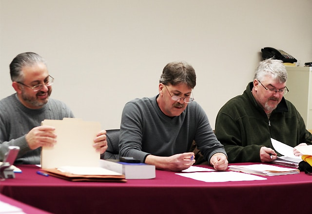 Solicitor Paul Steff (left), Councilman Kenneth Doughty, Councilman Richard Decker / Beaver Countian file photo