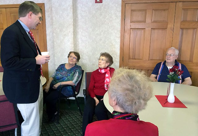 Congressman Keith Rothfus talking with seniors