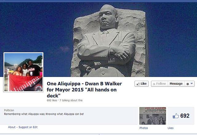 Mayor Walker's reelection Facebook page