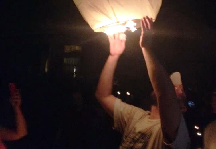 Photo of candlight vigil held for Camp / photo submitted by Terry Griffith