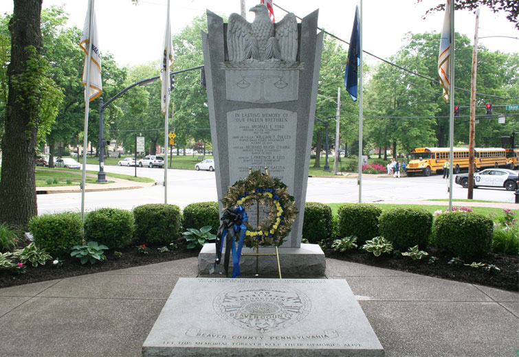 Beaver County Law Enforcement Memorial // file photo by John Paul