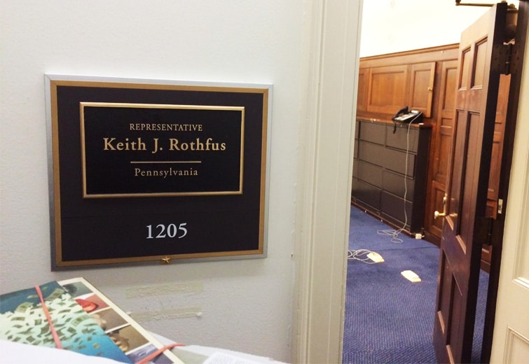 Congressman Keith Rothfus' DC office recently moved to room 1205 of the Longworth Building