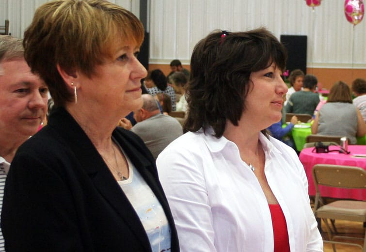 Tracey Antonline-Patton (white shirt) / Beaver Countian file photo by John Paul