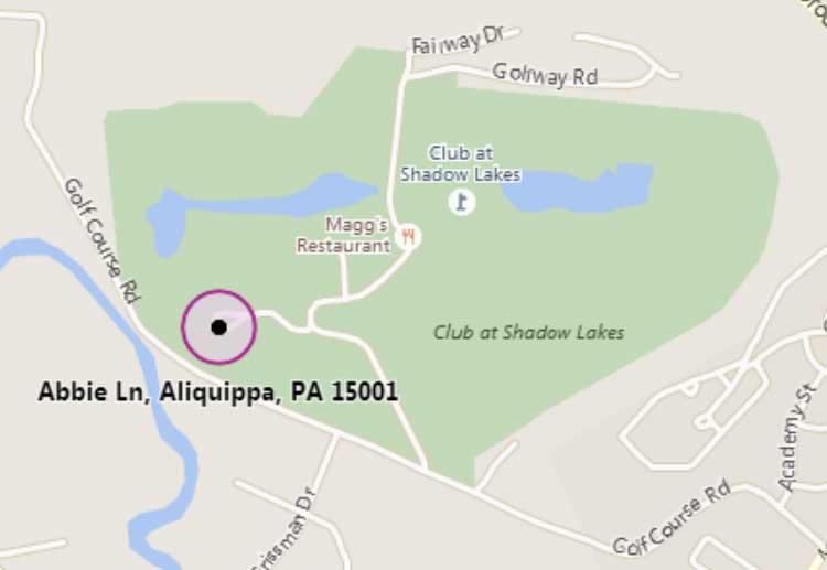 Map imagery via © Microsoft / Bing