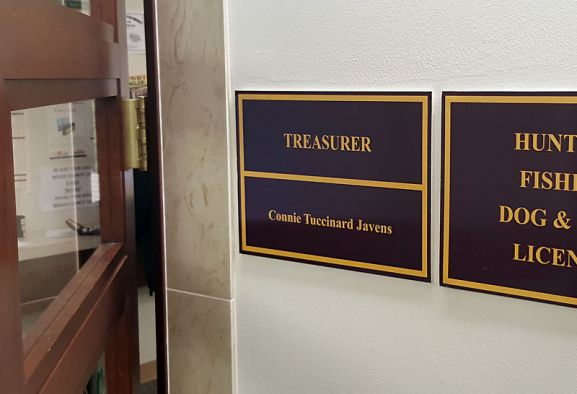 Treasurer Connie Javens Was Sitting On A Bench Waiting For Me