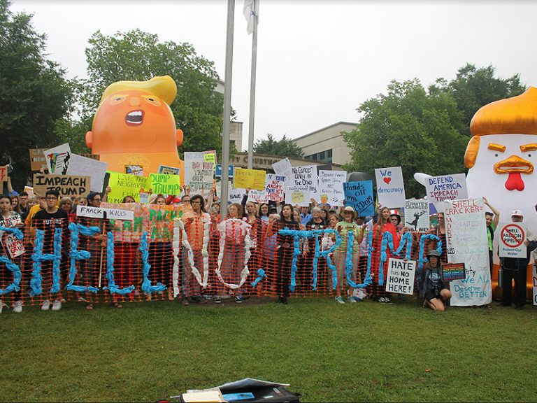 Trump Chickens And Live Nativities – Courthouse Lawn A Neutral Public Square To Voice Opinion