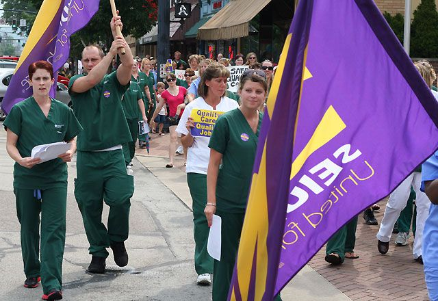 Labor Lives!  Nurses Take To The Streets Over Contract Proposals