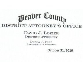 Latest Letter From District Attorney Lozier To John Paul (More Delaying Of The Inevitable)